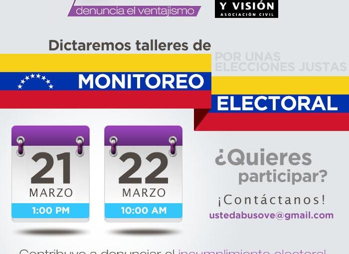 Talleres de Monitoreo Electoral e Infociudadanía@USTEDABUSO