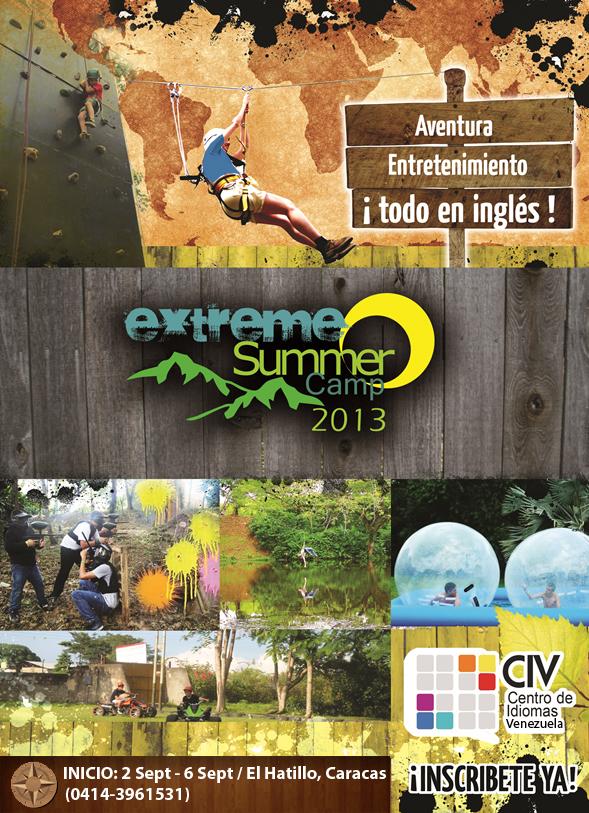 Extreme Summer Camp VZLA 2013- Flayer