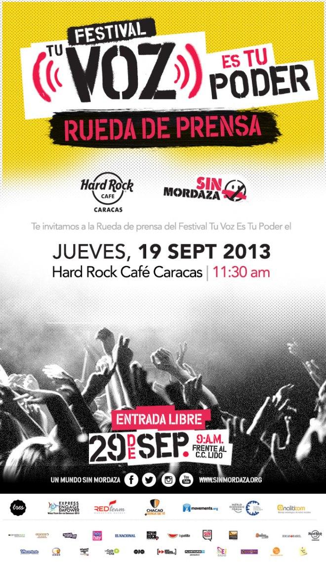 Rueda de Prensa Festival #TuVozEsTuPoder @Sin_Mordaza