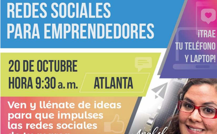 Taller práctico Redes Sociales para emprendedores este sábado20